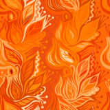 Autumn leaves seamless pattern Stock Image