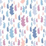 Autumn leaves seamless pattern in pastel colors stock illustration