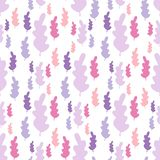 Autumn leaves seamless pattern in pastel colors. Leaf branch backdrop royalty free illustration