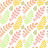 Autumn leaves seamless pattern. Vector bright texture. Can be used for wrapping, textile, wallpaper and package design. Royalty Free Stock Images