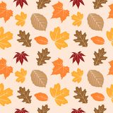 Autumn leaves seamless pattern 03 stock illustration