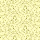 Autumn leaves seamless texture stock photo
