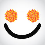 autumn leaves smile face illustration Royalty Free Stock Image