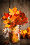 Autumn Leaves Still Life Royalty Free Stock Photo