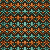 Autumn leaves stripes seamless pattern. Stylized retro floral stems all over print. Pretty fall autumn fashion fabric. Trendy. Scrapbooking paper, nature royalty free illustration