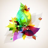 Autumn leaves swirl royalty free illustration