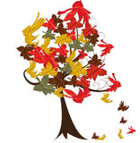 Autumn Leaves and tree Royalty Free Stock Photo