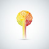 Autumn leaves tree icon background Royalty Free Stock Photo