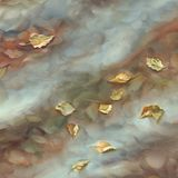 Autumn leaves watercolor background Royalty Free Stock Image