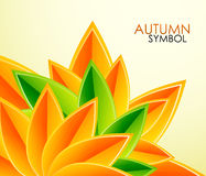 Autumn leaves vector background Stock Image
