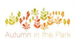 Autumn leaves vector illustration abstract. Stock Photo