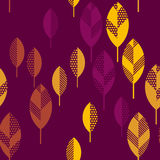 Autumn leaves vector illustration abstract. Royalty Free Stock Photos