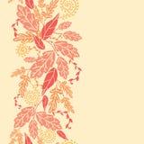 Autumn Leaves Vertical Seamless Pattern bakgrund Royaltyfria Bilder