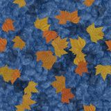 Autumn leaves on water seamless generated texture background Stock Photos