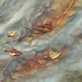 Autumn leaves watercolor background Royalty Free Stock Images