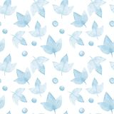 Autumn leaves 7. Watercolor floral background. Seamless  pattern Royalty Free Stock Image