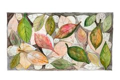 Autumn Leaves In Watercolor Stock Image