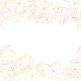 Autumn leaves on white background. plus EPS10 Royalty Free Stock Images