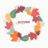 Autumn leaves wreath. Vector illustration in eps8 format Stock Images