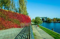 Autumn leisure - walk in the park Stock Photo