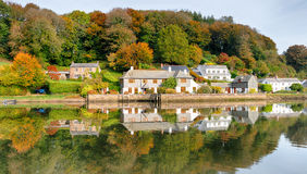 Autumn at Lerryn in Cornwall Stock Images