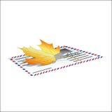 Autumn letter. Stock Images