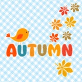 Autumn lettering Stock Images