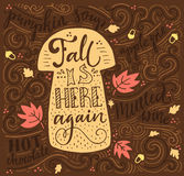 Autumn Lettering stock illustratie