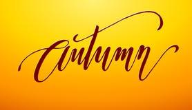 Autumn Lettering Imagen de archivo