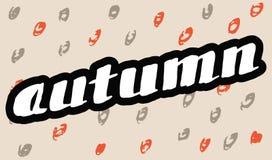 Autumn Lettering background. Stock Photo