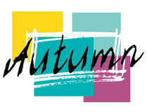 Autumn lettering background. Royalty Free Stock Photo