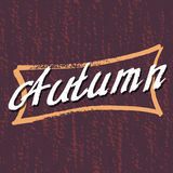 Autumn Lettering background. Stock Image