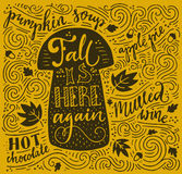 Autumn Lettering Royalty Free Stock Image