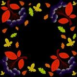 Autumn Lettering Hand het getrokken kalligrafie van letters voorzien geïsoleerd op donkere achtergrond vector illustratie