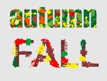 Autumn letterings Stock Photos