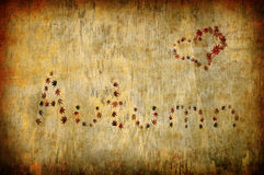 Autumn letters and heart shape made by leaves Royalty Free Stock Images
