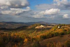 Autumn light. Warm autumn sun light over center italy apennines royalty free stock photos