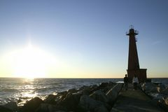 Autumn light house Royalty Free Stock Photo