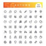 Autumn Line Icons Set Fotografia Stock