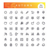 Autumn Line Icons Set. Set of 56 autumn line icons suitable for gui, web, infographics and apps. on white background. Clipping paths included.r vector illustration