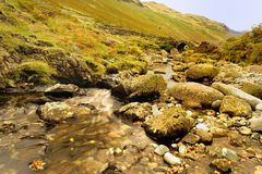 Autumn at Lingcove Bridge Royalty Free Stock Image