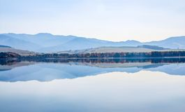 Autumn in Liptovska Mara‬ Liptovska lake with Low Tatras mountain range royalty free stock photos