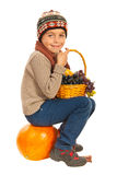 Autumn little boy Royalty Free Stock Images