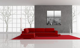 Autumn living room Royalty Free Stock Image