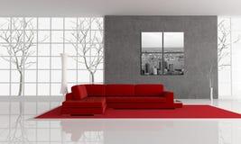 Autumn living room royalty free illustration