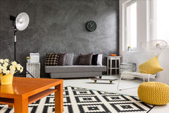 Autumn in living room stock images