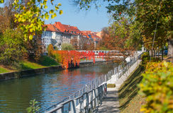 Autumn in Ljubljana, Slovenia Royalty Free Stock Photo