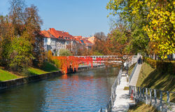 Autumn in Ljubljana, Slovenia Royalty Free Stock Images