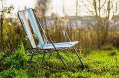 Autumn location, autumn decor, old chairs.  Stock Image