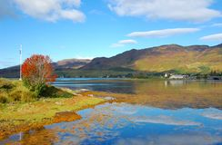 Autumn on Loch Duich, Scotland Royalty Free Stock Image